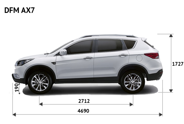 DongFeng AX7 габариты фото